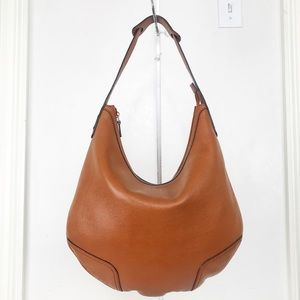 Gucci Princy Tan Pebble Leather Hobo Shoulder Bag